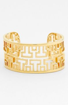Tory Burch 'Frete' Open Cuff available at #Nordstrom