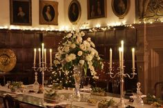 Christmas table at Hardwick castle, England.