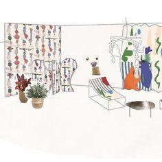 Inspiration Matisse pour ce projet coloré de Jeanne Martin et Marie-Marie Vergne, diplômées de l'HEAD, Haute - Ecole d'Art et de Design de Genève.