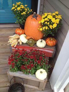 Fall front porch by lynda