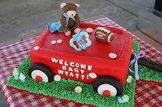 Image result for red wagon diaper cake