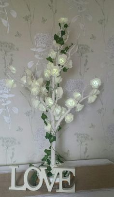 Trees can be added as a prop display or table decoration.