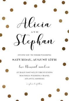 Kraft And Dots - Wedding Invitation #invitations #printable #diy #template #wedding