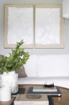 DIY Abstract Diptych Art (+ A Video) - Room for Tuesday