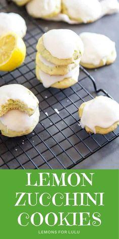 Amazing Cookie Recipes, Favorite Cookie Recipe, Holiday Cookie Recipes, Best Dessert Recipes, Fun Desserts, Bar Recipes, Yummy Recipes, Zucchini Cookies, Lemon Cookies