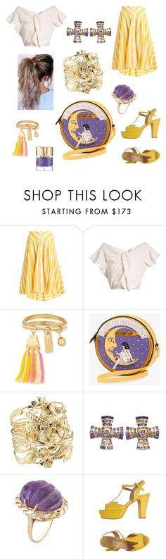 """""""Lilac & Buttercup"""" by savannah-foster-330 ❤ liked on Polyvore featuring Thierry Colson, Rachel Comey, Chloé, Olympia Le-Tan, Aurélie Bidermann, Theo Fennell, Prêt a Danser and Smith & Cult"""