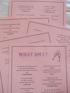 Hen Night Party Game - What am I ? Great game for Hen Do s. Innuendo Fun.