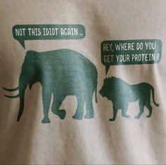 The biggest animals are herbivores, but people always ignore the truth . Vegetarian Memes, Vegan Humor, Vegan Quotes, Why Vegan, Big Animals, Sarcastic Quotes, Qoutes, Instagram Bio, Vegan Life