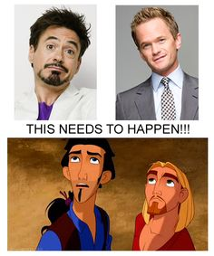 I need a live action Road to Eldorado with these two as Tulio and Miguel!