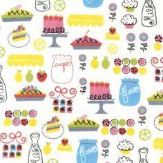 Robert Kaufman Fabric, Everything Nice in Spring by Pink Light Design, 1 Yard. via Etsy.  SO CUTE