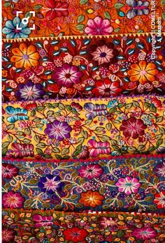 Peruvian embroidery. This comes close to showing the colors I see in my head.