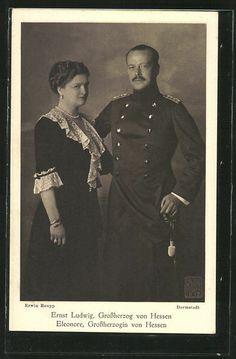 Großherzog Ernst Ludwig von Hessen mit Gattin Eleonore,