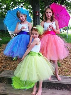 Frou Frou Tutu Sets. Perfect for flower girls or a tea party. From PrincessDoodleBeans on Etsy