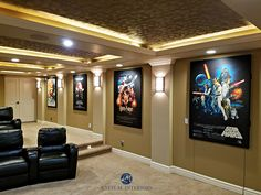 Home Theater Movie Poster reproductions on quality acoustic panels; reproduce your favorite album art on our acoustic panels