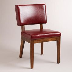One of my favorite discoveries at WorldMarket.com: Red Bonded Sophia Leather Chairs, Set of 2