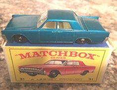Vintage Matchbox Lesney Lincoln Continental New Model #31 with Box Excellent #Matchbox #Lincoln