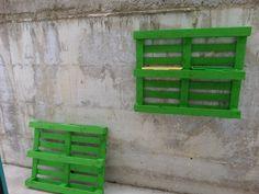 parete esterna con pallets portafiori - prima