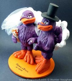 Wedding Cake Topper of the Day....Virginia Tech Hokie Bird Cake Topper - Cake Toppers - Zimbio