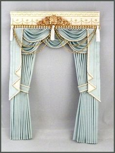 how to make swags and tails dolls house curtains