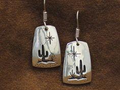 Rick Manuel Tohono O'Odham Saguaro Earrings