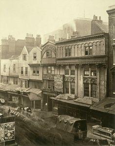 Old Houses in Aldgate: c.1875, Henry Dixon