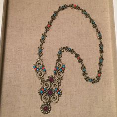 Native American Necklace Native American Necklace. Weight: approximately 2-1/4 oz or 61 g. Jewelry Necklaces