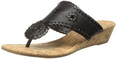 Rampage Women's Scheena Thong Cork Low Wedge Sandal ** Want additional info? Click on the image. #sandalsoftheday