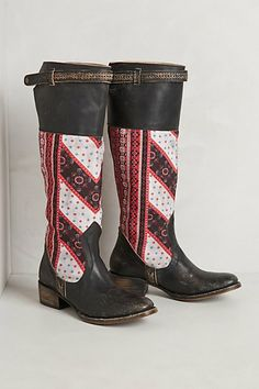 Sullivan Boots #anthropologie YOU have got to be kidding?? I wouldn't pay five dollars for these!! If you think these are cute, call the fashion police to help you get out of jail!