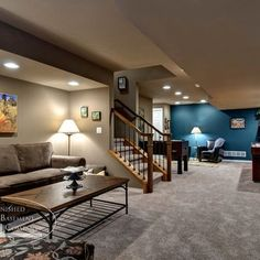 Open Kitchen Living Room Layouts | Basement idea | Future House | Pinterest