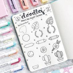 Hi guys!😊 Check out this doodle tutorial by Laura Aizkalns… – – Zeichnung , Kritzeleien und mehr Bullet Journal Notes, Bullet Journal 2019, Bullet Journal Ideas Pages, Bullet Journal Inspiration, Doodle Drawings, Easy Drawings, Bujo Doodles, Notebook Doodles, Pen Doodles