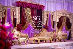 Suhaag Garden, Florida California wedding decorators, South Asian wedding decorators, Indian wedding decorators, reception decor, Marriott Heron Bay Coral Springs, white and gold, flowers, stage