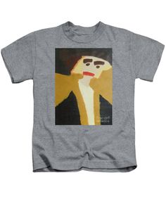 Patrick Francis Designer Kids Heather T-Shirt featuring the painting The Graduate by Patrick Francis