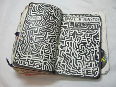 Create a Nonstop Line - Wreck This Journal