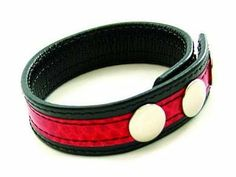 C Ring Snake Skin Red by Om. $16.41. All edges are rounded to create well finished and durable leather prod