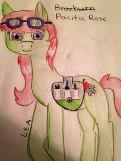 My new oc pacific rose I had to change her name because her name was an actual name in the show lol by Lauren a