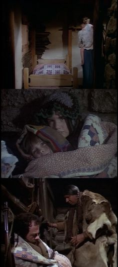 Little House on the Prairie, Season 1, Episodes 5 & 22: Carrie Ingalls' quilt is first shown on her bed in episode 5. We see the same quilt again wrapped around Laura and Carrie and another character in episode 22.  Carrie's quilt pattern appears to be made of Granny Square quilt blocks and some sashing. (Tip: Search the web for a pattern called Clover Schnibbles which resembles this quilt.)