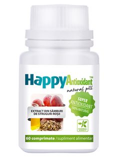 Antioxidant - HappyAntioxidant - Supliment nutritiv cu extract de samburi de struguri ce actioneaza ca antioxidant prin inactivarea radicalilor liberi din organism.