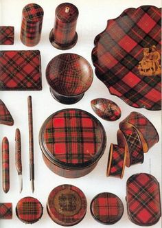 Vintage tartan ware collection, because there is no such thing as too much tartan, ye ken.  #Scottish #tartan