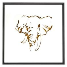 Majestic Abstract Elephant Wall Art - 2579