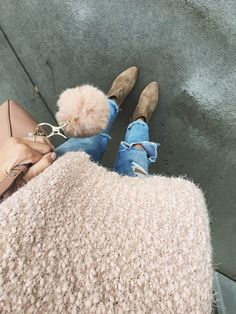 blush sweater suede booties