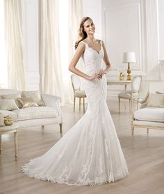 Pronovias presents the Ombu wedding dress. Fashion 2014. | Pronovias