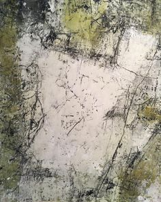 """New work """"When You Don't Know What To Say"""" contemporary abstract art by Carole Leslie"""