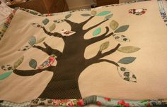My first applique and  patchwork blanket