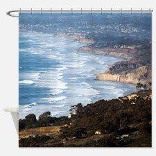 La Jolla and Del Mar Shower Curtain for