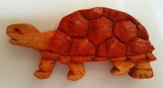 wooden tortoise magnet
