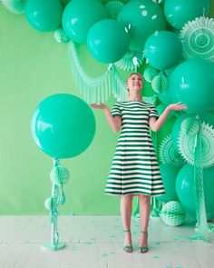 Monochromatic Green Party | Oh Happy Day!