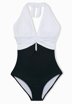 1d2bf45055 VELVET FOX Deep V Halter One Piece Swimsuit 105 AED https   en-