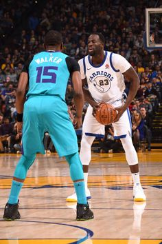 Draymond Green of the Golden State Warriors handles the ball against the Charlotte Hornets on December 29 2017 at ORACLE Arena in Oakland California...