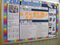 facebook profile bulletin board with post-its for status