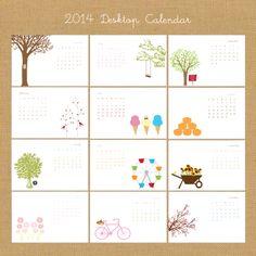 2014  Calendar . Calendar 2014 . Gift For by SweetBellaStationery, $18.50